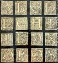 72/5733 Alphabets  Large lot of small cut out ornamental and historiated woodcut initials
